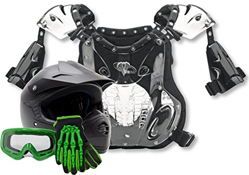Youth PeeWee Offroad Helmet Gloves Goggles Chest