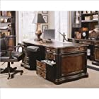 Buy Hooker Furniture Preston Ridge Leather Top Executive Desk