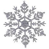 サクララ(Sakulala) 12点 クリスマス スノーフレーク オーナメント クリスマスツリー デコレーション インテリア Merry Christmas パーティー 宴会 雪の結晶