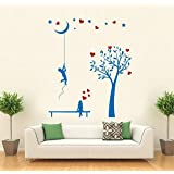 Hoopoe Decor Boy Bringing Moon Down For His Love Wall Stickers And Decals - B011GVH0VS