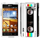 LG Optimus Showtime Retro FE90 Tape Cassette Hard Case Phone Cover