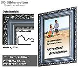2. Wahl Barock Holz Bilderrahmen Antik Silber mit Antireflex-Acrylglas Profil SO A_10SI 60 x 80 cm