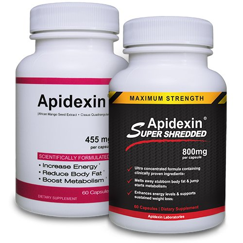 Apidexin and Apidexin Super Shredded - Best Diet Pill - Diet Pills That Work Fast and the Best Appetite Suppressant - Fat Burner for the Best Diets