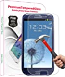PThink® 0.3mm Ultra-thin Tempered Glass Screen Protector for Samsung Galaxy S3 with 9H Hardness/Anti-scratch/Fingerprint resistant (Samsung Galaxy S3)