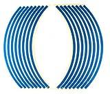 ホイールリムステッカー 17インチ/18インチ両用タイプ (青 ブルー)