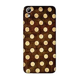 Abhivyakti Pattern Golden Polka Hard Back Case Cover For HTC Desire 626