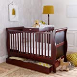 Izziwotnot Bailey 3 Piece Cot Bed Furniture Set, Mahogony