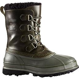 Sorel Men\'s Caribou WL Boots, Surplus Green/White, 11 D(M) US