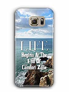 YuBingo Life Begins at the end of Comfort Zone Designer Mobile Case Back Cover for Samsung Galaxy S6 Edge