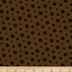 44'' Wide French Press Polka Dots Brown Fabric By The Yard made by Choice Fabrics