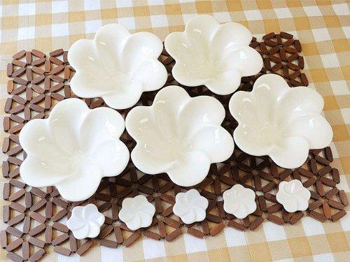 【アウトレット品】バリプラウ デザートボールS&箸置き クリーム 5個セット