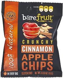 Bare Fruit All Natural Cinnamon Apple Chips, 0.53 oz, 24 pk