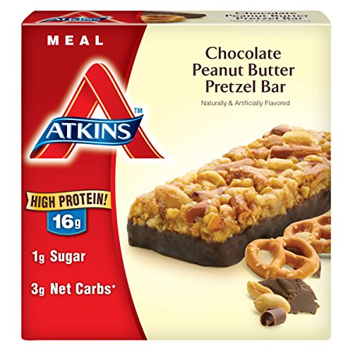 Atkins meal bar chocolate peanut butter pretzel 5 count for Atkins cuisine baking mix