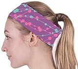 (クールオーエムジー)COOLOMG ヘッドバンド 汗止め 前髪固定 表裏両用 紫気泡