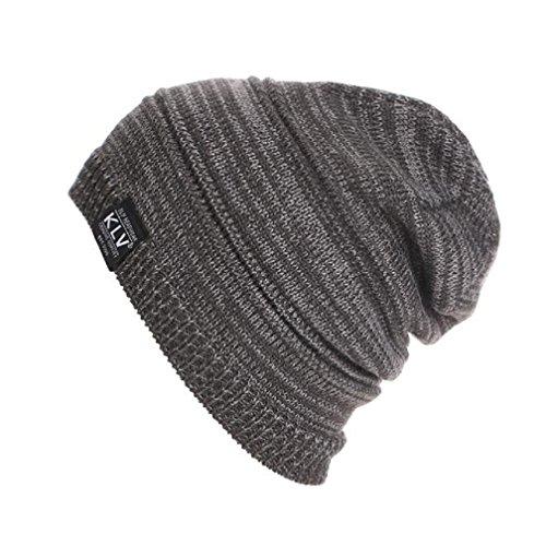 LUNIWEI Unisex Knitted Woolen Baggy Beanie Winter Warm Cap Solid Hat (Kids Graduation Hat)