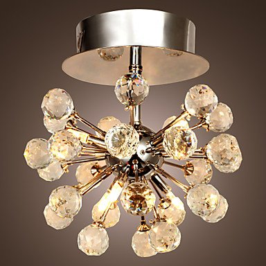 K9 Crystal Chandelier With 6 Lights In Globe Shape