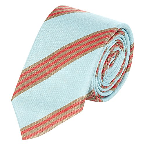 Mens Costume National Blue & Red Striped Skinny Tie Gents