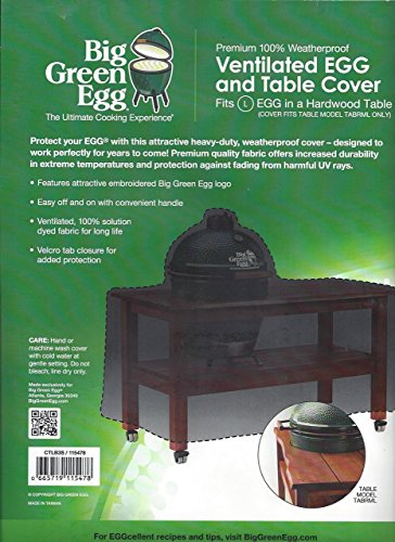 ... Big Green Egg   Embroidered Hardwood Table Cover With Handle For Large  Egg. Authentic Big ...