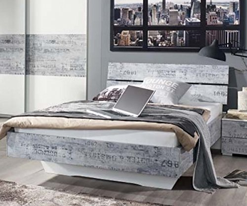 A033670T420-Sumatra-Wei-Vintage-grau-Jugendbett-Futonbett-Gstebett-Bett-Einzelbett-120-x-200-cm