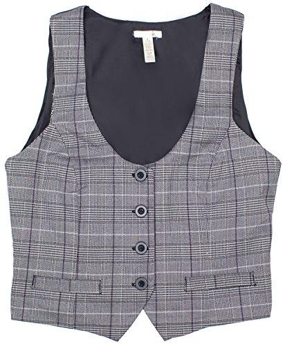 womens-grey-plaid-button-up-vest-top-medium