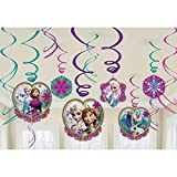 Frozen Hanging Swirl Decorations (12pc)