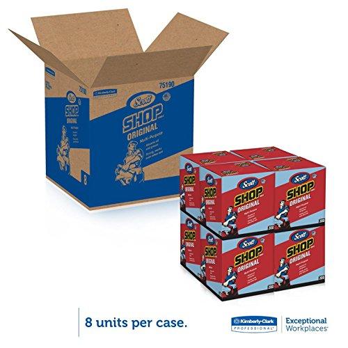 Kimberly-Clark Scott Shop Towels Pop-Up Box, Blue ...