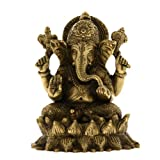 Brass Sculpture Ganesha Idol Hindu Figurine From India 13.97 Cmby ShalinCraft