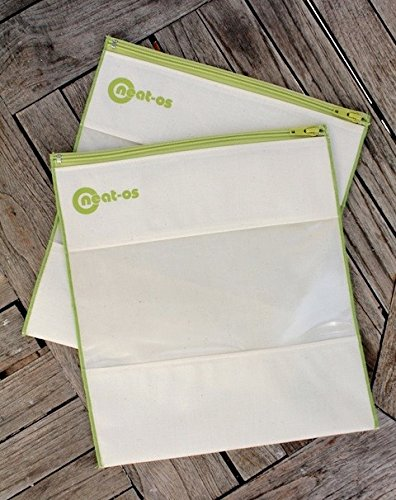 neat-os-2pk-gallon-sized-reusable-bag-set-green