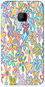 Timpax protective Armor Hard Bumper Back Case Cover. Multicolor printed on 3 Dimensional case with latest & finest graphic design art. Compatible with only HTC - M9. Design No :TDZ-21503