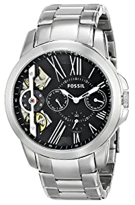 Fossil Men's ME1145 Grant Analog Display Analog Quartz Silver Watch