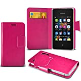 (Black) Nokia Asha 500 Duel Sim Super Thin PU Leather Suction Pad Wallet Case Cover Skin With Credit/Debit Card Slots By Fone-Case