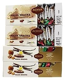 Achva Snacks Halva Gift Box, 10.5-Ounce Packages (Pack of 4)