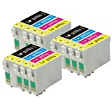 3 Compatible Sets of 4 XL Printer Ink Cartridges to replace T1306 (12 Inks) - Black / Cyan / Magenta / Yellow for use in Epson Stylus Office B42WD, BX320FW, BX525WD, BX535WD, BX535WD, BX630FW, BX635FWD, BX925FWD, BX935FWD, SX525WD, SX535WD, SX620FW & Wor