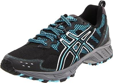 ASICS Women's Gel Enduro 7 Running Shoe,Onyx/Black/Blue,6 D US