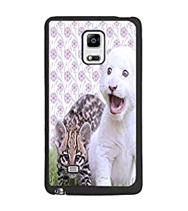 PrintDhaba Cute Kittens D-3881 Back Case Cover for SAMSUNG GALAXY NOTE EDGE (Multi-Coloured)