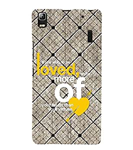 99Sublimation Love Quotes 3D Hard Polycarbonate Back Case Cover for Lenovo A7000, Lenovo A7000 Plus, Lenovo K3 Note