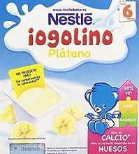 Iogolino Plátano a Partir de 6 Meses - Pack de 4 x 100 g - Total: 400 g