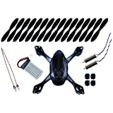 Hubsan X4 H107D FPV Quadcopter Crash Pack - BLACK (Tekstra Brands Exclusive!!)