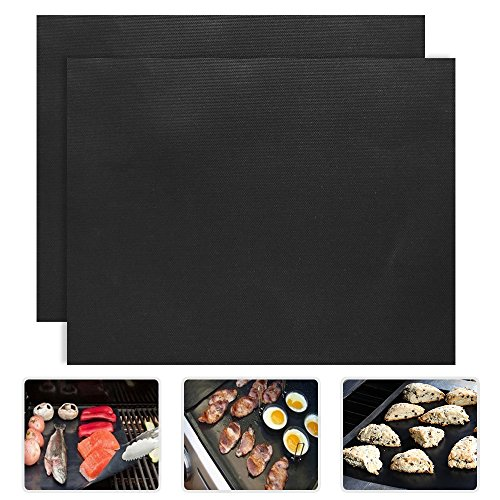 2 Piece of (15.75x 13) BBQ Grill Mat-Nonstick, Reusable and Dishwasher Safe