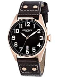 Torgoen Swiss Men's T28105 T28 3-Hand Rose Aviation Watch