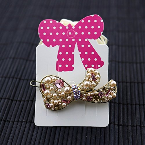 200pcs/lot Hair Charm Display Packaging Card Bowknot Bow Hair Clip Hair Claws Hairgrips Hanging Paper Display Cards (Hair Display Cards compare prices)
