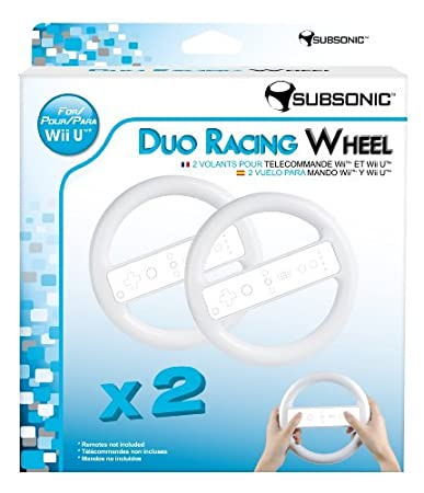 Due Racing Wheel - White (Nintendo Wii U)
