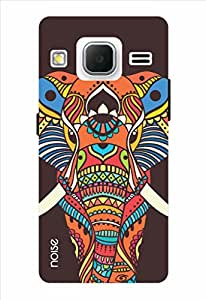 Noise Brown Murial Elephant Printed Cover for Samsung Core Prime