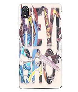 Fuson Multicolor Text Back Case Cover for SONY XPERIA Z2 - D3730
