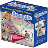 Snuggie Fleece Blanket with Sleeves, Varsity