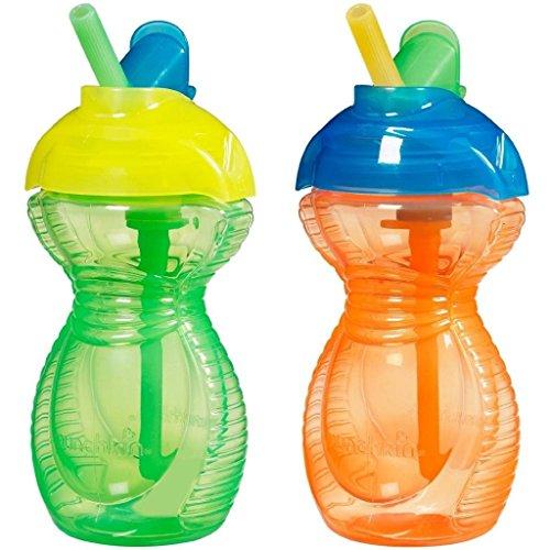 Munchkin Click Lock Flip Straw Cups - 9Oz - 2 Pack (Orange/Green) front-1055476