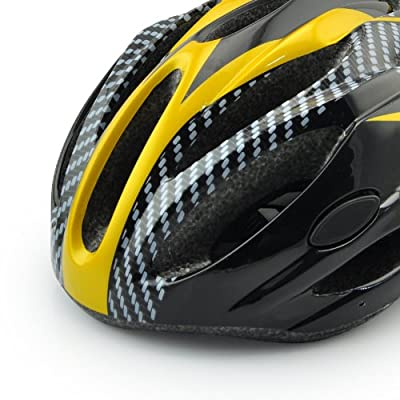 Sport Direct Men's Women's Bicycle Skating Helmet yellow,Size:54cm-60cm by Guanshi