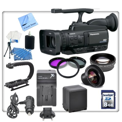 Panasonic AG-HMC40 AVCCAM HD Camcorder With Essentials Kit. Includes Stabiliazing Handle/Grip, Replacement VBG260 Batter