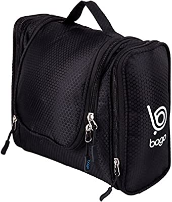 Bago Travel Toiletry Bags for man woman & kids - 100% SATISFACTION GUARANTEED. Hanging Toiletries Bag or for Home. Multi Pockets & High Quality Zippers. Perfect for Cosmetics Shaving & Personal Care
