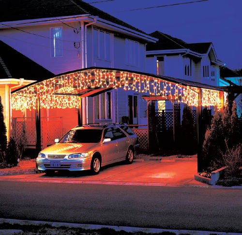 icicle lights are a style of christmas string lights that are typically used to decorate along the eaves of a house and simulate icicles hanging from the